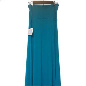 NWT LuLaRoe Teal Maxi Dress Size M